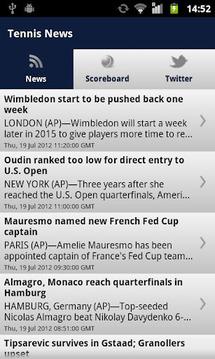 网球新闻及成绩