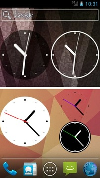 简单时钟部件