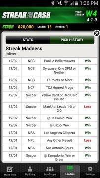 ESPN的条纹为现金 ESPN Streak For The Cash