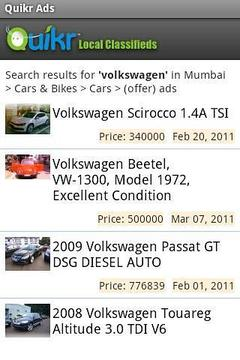 Quikr Classifieds app