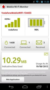 Vodafone Mobile Wi-Fi Monitor