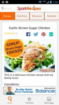 Healthy Recipes SparkRecipes
