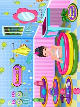 洗澡的孩子游戏