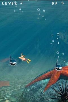 潜水员与鲨鱼