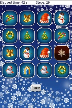 圣诞节记忆游戏