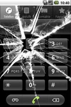 破碎的玻璃