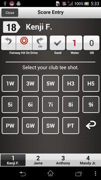 Golf Score Card - Yo