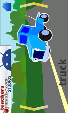 轿车和卡车的拼图