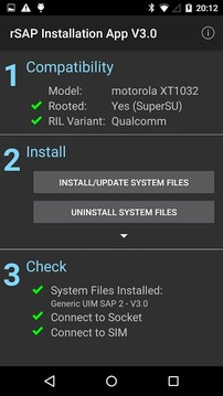 Bluetooth SIM Access Install