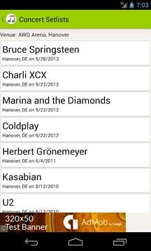 Concert Setlists