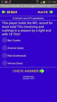 Patriots Trivia