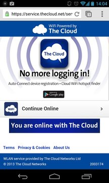 The Cloud WiFi Finder