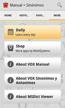 Vox Manual + Sinónimos