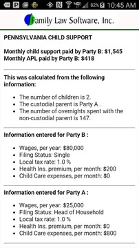 PA Child Support Calculator