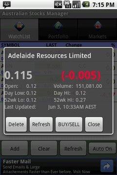 Australian Stock Manager
