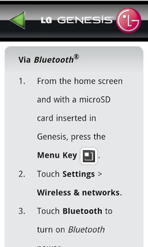 LG Genesis 760 User Guide