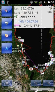tracky的GPS导航+罗盘