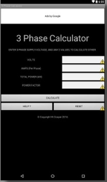 3 PHASE POWER CALCULATOR