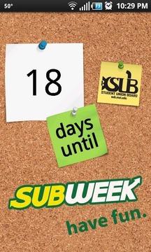 SUB Week Countdown