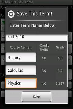 GPA & Final Exam Calculator