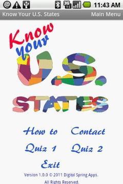 Know Your U.S. States I