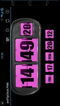 3D Animated Flip Clock PINK