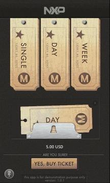 NXP Mobile Ticket DEMO