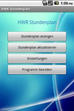 HWR Stundenplan