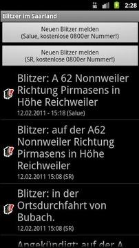 Blitzer im Saarland