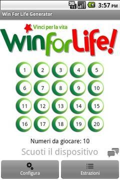 Win For Life Generator