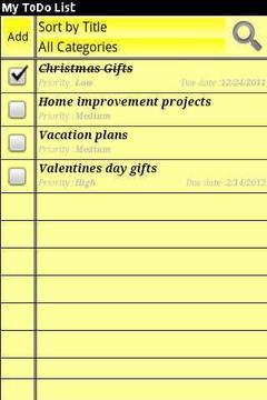 待办事项清单
