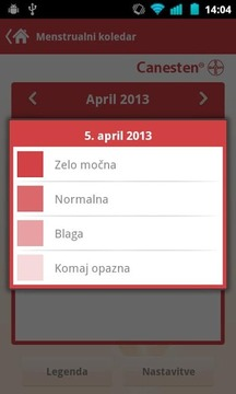 Menstrualni koledar Canesten
