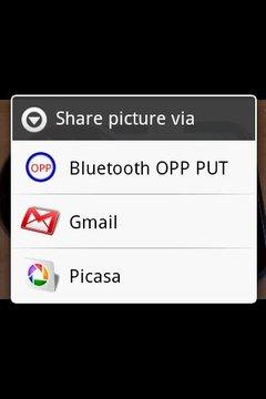 Bluetooth OPP PUT for 2.x Lite