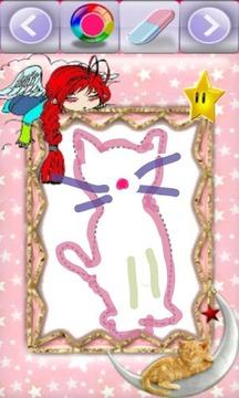 有趣涂鸦-猫