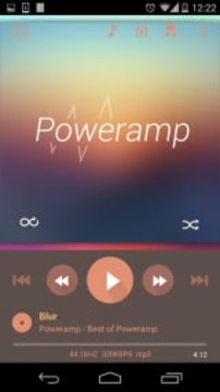 Poweramp Flat Autumn 皮肤