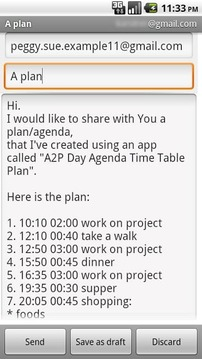 A2P Day Agenda Time Table Plan