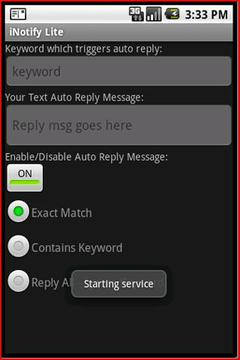 iNotify Lite - Auto Text Reply