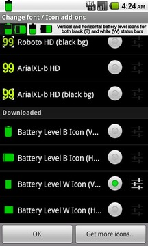 BN Pro Battery Level Icons