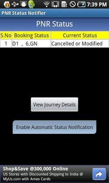 PNR Status Notifier