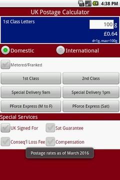 UK Postage Calculator