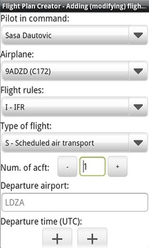 Flight Plan Creator