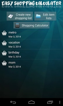 Easy Shopping Calculator