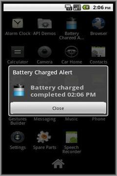 电池充电提醒