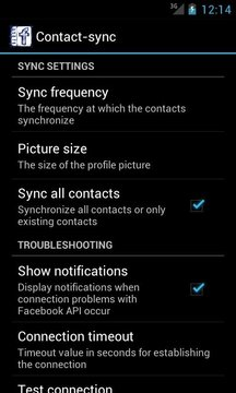 Contact Sync for Facebook