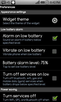 Battery Power Widget