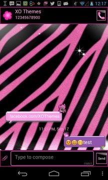 GO SMS PRO Pink Zebra theme