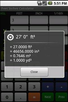 英尺英寸计算器