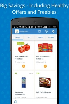 SavingStar Grocery eCoupons