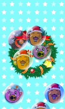 我的孩子 聖誕節 遊戲(吹肥皂泡!)