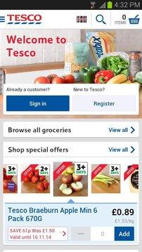Tesco Groceries: Food Shop
